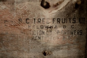 An old apple crate from my Grandmother's...