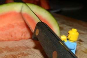 I''''''''m not allowed to cut things like watermelon around here, good thing he was here...